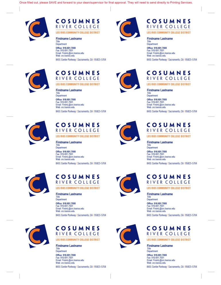 Cosumnes river college business card fillable pdf template chihiro business card template final wajeb Choice Image