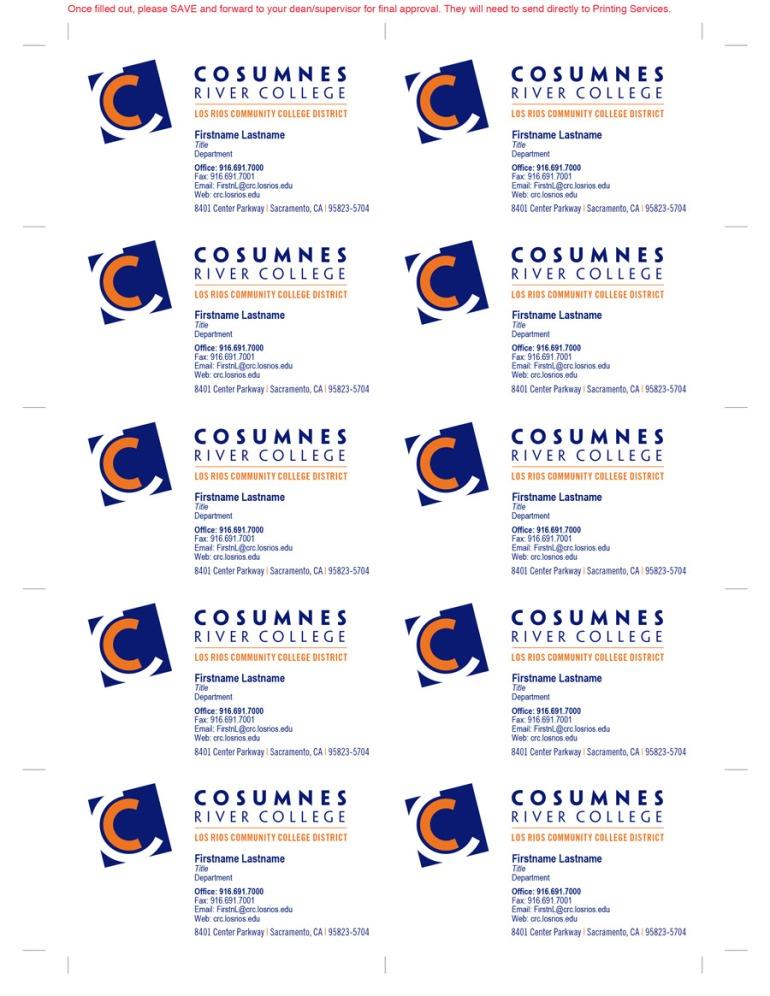 Cosumnes river college business card fillable pdf template chihiro business card template final colourmoves